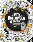 Happy Halloween Have Fun Adult Coloring Book Series 1