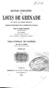 Oeuvres complètes de Louis de Grenade: Volume22