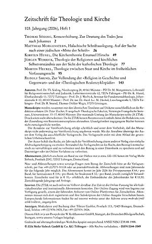 Zeitschrift f  r Theologie und Kirche PDF