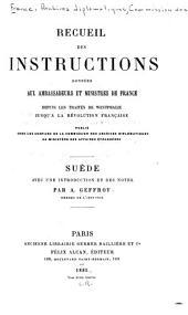 Recueil des instructions données aux ambassadeurs et ministres de France depuis les traités de Westphalie jusqu'à la révolution française: Volume2
