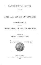 California: Volume 1889