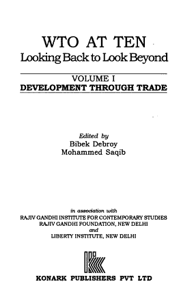 WTO at Ten  Development through trade PDF