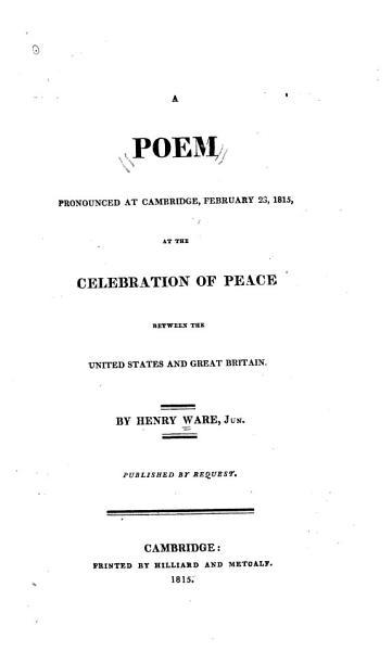 A Poem Pronounced At Cambridge February 23 1815