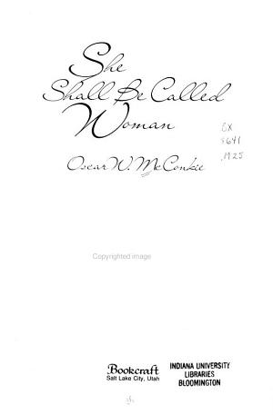 She Shall be Called Woman PDF