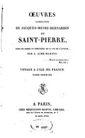 Oeuvres complètes de Jaques-Henri-Bernardin de Saint-Pierre: Volume1