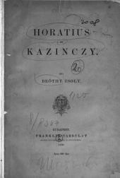 Horatius és Kazinczy