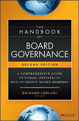 The Handbook of Board Governance PDF
