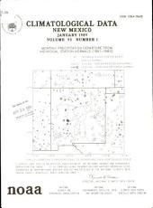 Climatological data. New Mexico: Volume 93