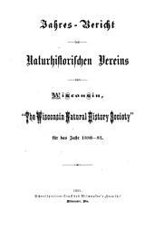 Jahresbericht des naturhistorischen Vereins von Wisconsin