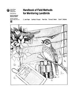 Handbook of Field Methods for Monitoring Landbirds Book