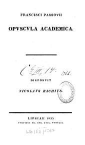 Opuscula Academica