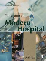 Managing a Modern Hospital PDF