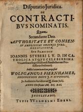 Disputatio Iuridica de contractibus nominatis