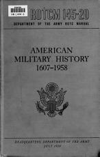 American Military History  1607 1958 PDF