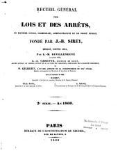 Journal du Palais, Pandectes françaises périodique