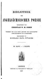Die handschrift von Exeter, Metra des Boetius, Salomo und Saturn: die Psalmen, Teil 1