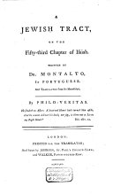 A Jewish Tract on the Fifty-third Chapter of Isaiah