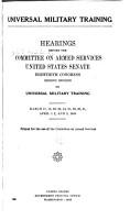 Universal Military Training PDF