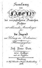 Samlung von Fabeln der vorzüglichsten deutschen Dichter. Herausg. von J.P. Voit