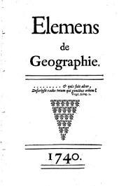 Elémens de Geographie