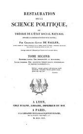 Restauration de la science politique: Des principautés ou monarchies. Des seigneurs territoriaux indépendans ou princes patrimoniaux