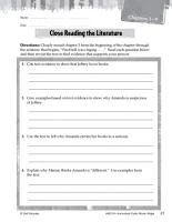 Maniac Magee Close Reading and Text Dependent Questions PDF
