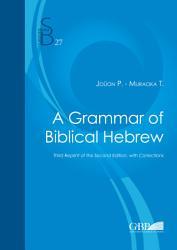A Grammar of Biblical Hebrew PDF