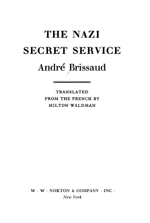 The Nazi Secret Service