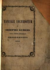 Kethābhā īdhāyā dhe-khāhnē. Manuale Sacerdotum a Josepho Guriel juxta ritum Ecclesiae Chaldaeorum editum