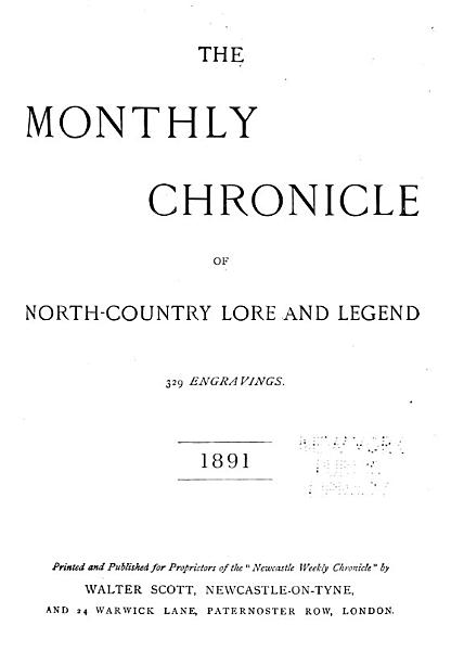 The Monthly Chronicle of North Country Lore and Legend PDF