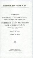 Public Broadcasting Oversight of 1981 PDF