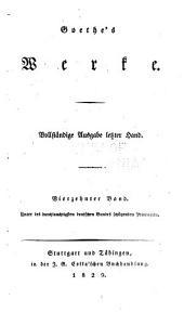 Goethes werke: Band 10