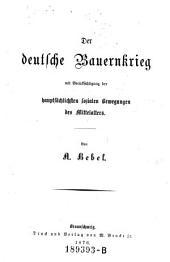 Der deutsche Bauernkrieg mit Berücksichtigung der hauptsächlichsten sozialen Bewegungen des Mittelalters