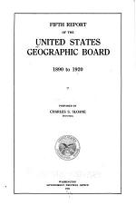 Index to the Fifth Report and Supplement (1920-1923) of the United States Geographic Board