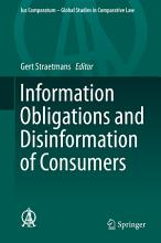 Information Obligations and Disinformation of Consumers PDF