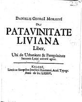 De Patavinitate Liviana Liber