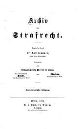 Archiv für Strafrecht und Strafprozess: Band 42