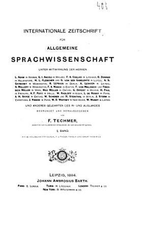 Internationale zeitschrift f  r allgemeine sprachwissenschaft PDF
