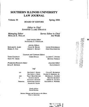 Southern Illinois University Law Journal