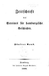 Zeitschrift des Vereins für Hamburgische Geschichte: Band 5