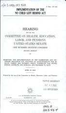 Implementation of the No Child Left Behind Act PDF