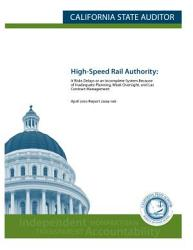 High Speed Rail Authority In California Book PDF