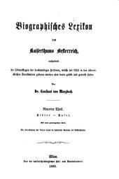 Biographisches lexikon des kaiserthums Oesterreich: enthaltend die lebensskizzen der denkwürdigen personen, welche seit 1750 in den österreichischen kronländern geboren wurden oder darin gelebt und gewirkt haben, Band 9