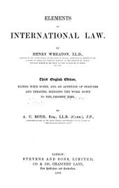Elements of International Law