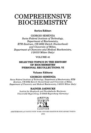 Selected Topics in the History of Biochemistry  Personal Recollections VI PDF
