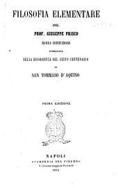 Filosofia Elementare del Prof. Giuseppe Prisco