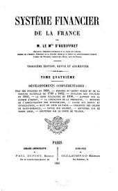 Système financier de la France: Volume4
