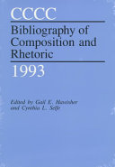 CCCC Bibliography of Composition and Rhetoric 1993 PDF