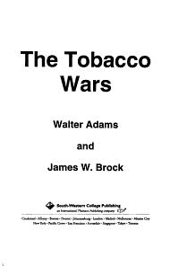 The Tobacco Wars PDF