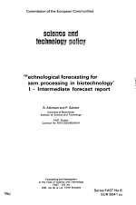Technological Forecasting for Downstream Processing in Biotechnology